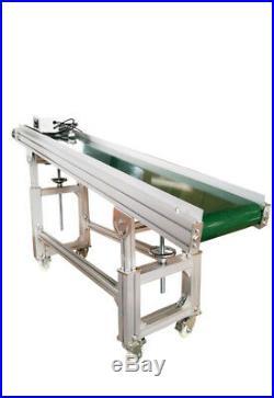 70 x12 Inclined Conveyor120W Floor Type Transfer Equipment PVC Belt Aluminum