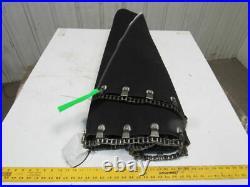 Ammeraal 38 Wide 24 Degree Radius Rough Top Chain Outside Drive Conveyor Belt