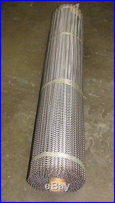 Audubon Pb-36-23-1618 Aj 25'x45 Stainless S/s Balance Weave Mesh Conveyor Belt