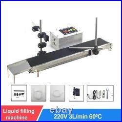 Automatic Conveyor Belt Single Head Liquid Filling Can Sense Temperature Machine