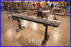 Belt Conveyor 12 wide x 8' long Labeling, Ink Jet & Product Transfer