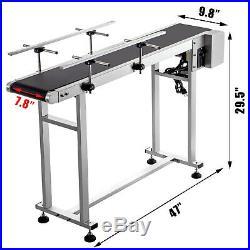 Belt Conveyor PVC Conveyor Belt47 x 7.8-Inch, Motorized Conveyor, with Guardrails