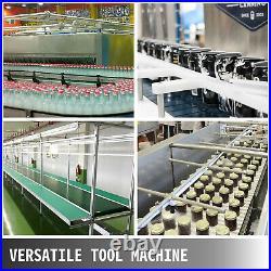Belt Conveyor PVC Conveyor Belt59x 15.7-Inch, Motorized Conveyor with Guardrails