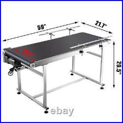 Belt Conveyor PVC Conveyor Belt59x 19.7-Inch, Motorized Conveyor with Guardrails