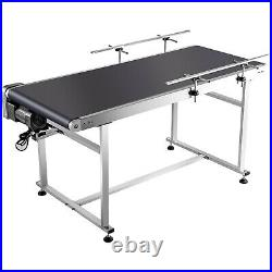 Belt Conveyor PVC Conveyor Belt59x 23.6-Inch, Motorized Conveyor with Guardrails