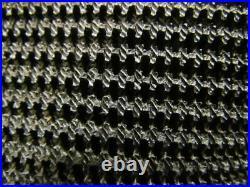Black PVC Rubber Rough Top Incline Conveyor Belt Bare Back 42 Wide 13' Long