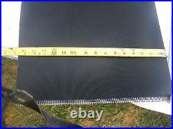 Black Rubber Lined Conveyor Replacement Belt 20' 6 long by 15 1/2 wide NEW