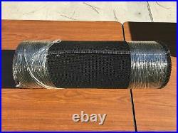 CONVEYOR BELT, 11'6 L, 24 W, THICK, BLACK PVC, ROUGH TOP with LACING