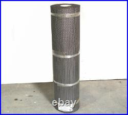 Cambridge Rexnord MTR 40' Food-Grade Stainless SS Mesh Wire Conveyor Belt 38W