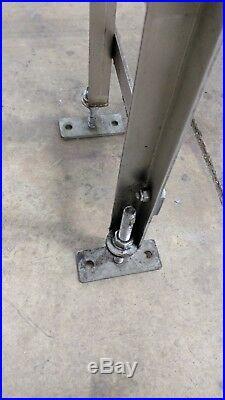 Conveyor, 20' Long, 7.5 Wide, 35 Floor To Top Of Belt, Stainless Steel