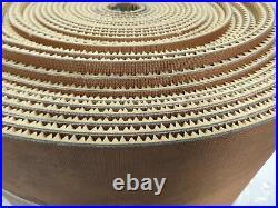 Conveyor Belt 2-Ply Rough Diamond Grip Top Incline TAN Rubber 12x 5/16x 97