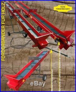 Conveyor Belt Firewood, Firewood Hackgut, Pellet, Collino-Diverse Spread & Lengths
