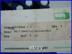 Conveyor Belt Habasit M5060 Flat Top Acetal Blue 16 X 10