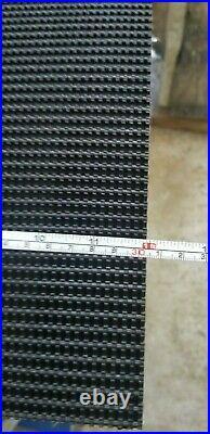 Conveyor belt Rough Top 12 Wide black rubber RT conveyor belting