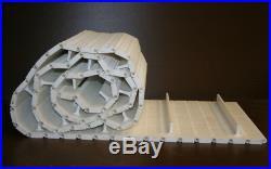 Conveyor belt Series 400 withflights FlatTop 17.75x122 inches Intralox Unused