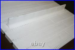 Conveyor belt Series 400 withflights FlatTop 17.75x126 inches Intralox Unused