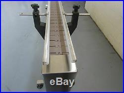 DEPENDABLE EQUIPMENTS CONVEYOR 4' x 7 WITH PLASTIC TABLE TOP BELT