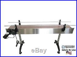DEPENDABLE EQUIPMENTS CONVEYOR 6' x 4 WITH PLASTIC TABLE TOP BELT