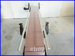 DEPENDABLE EQUIPMENTS CONVEYOR 6'x 7.5 WITH PLASTIC TABLE TOP BELT