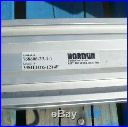 Dorner 3200 Ser 16in x 8ft 5in LPZ Paddle Incline cleated belt conveyor withmotor