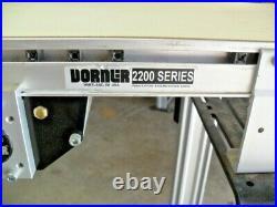Dorner Conveyor 2200 Series 262M10 Flat Belt 4' x 10 eDrive with motor & reducer