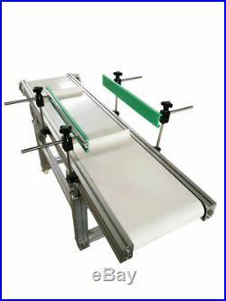 Double Guardrail PVC Belt Conveyor 1.5m Long 0.3m Width with 4cm High Baffle