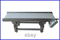 Enhanced PU Belt Conveyor 59x11.8inch Food Grade Conveyor Machine Adjustable H