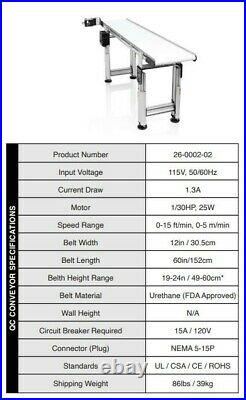 FDA Approved Twister T2 / T4 Trimmer Inspection Conveyor Belt System NEW