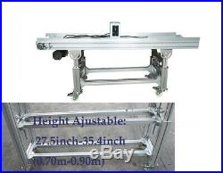 Flat Conveyor PU Belt System for Industrial Transport Conveyor Length 59'' Belt