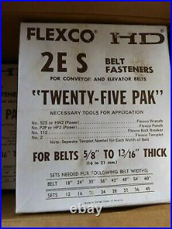 Flexco 2ES 20039 Conveyor/Elevator Belts SS Bolt Solid Plate Fasteners 69 7598