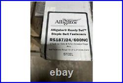 Flexco 54592 Alligator Rs187j24/600nc Ready Set Staple Belt Fasteners 4-belts