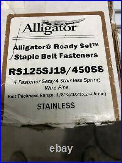 Flexco Alligator Ready Set Staple Belt Fastener RS125SJ18/450SS Stainless Steel