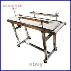 Food Grade PU Belt Conveyor With Double Guardrail 5311.8 Stainless Steel New