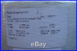 Forbo Siegling Conveyor Belt E12/2 Uo/uo Transparent 40 X 132
