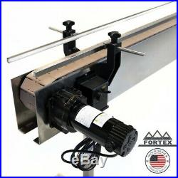 Fortex Stainless Steel 12 X 4.5 Inline Packaging Conveyor With Table Top Belt