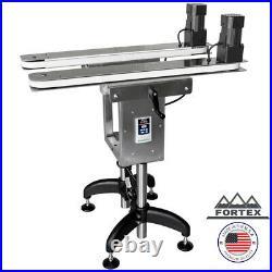 Fortex Stainless Steel Bottomless Gap Transfer Conveyor Hugger Belt