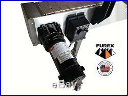 Furex Stainless Steel 12' x 4 Inline Conveyor with Plastic Table Top Belt