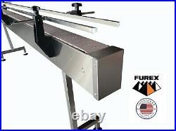 Furex Stainless Steel 4' x 12 Inline Conveyor with Plastic Table Top Belt