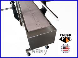 Furex Stainless Steel 4' x 7.5 Inline Conveyor with Plastic Table Top Belt