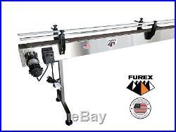 Furex Stainless Steel 8' x 4 Inline Conveyor with Plastic Table Top Belt