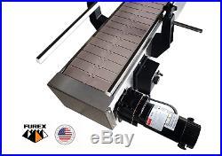 Furex Stainless Steel 8' x 7.5 Inline Conveyor with Plastic Table Top Belt
