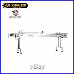 Globaltek 10'x4.5 S/S Sanitary Raised Bed Conveyor with Table Top Plastic Belt