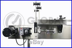 Globaltek 6' x 7.5 Dual Lane SS Conveyor with Table Top Plastic Belt