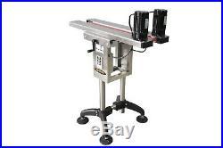 Globaltek Bottomless Conveyor Side Belt Transfer for Bottom Coder