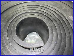 HIGH QUALITY 1/2 x 6 x 50' Rubber Skirtboard, Conveyor Belt Sheet Rubber -NEW