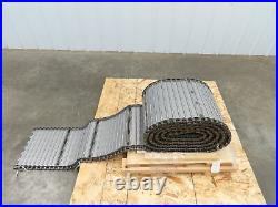 Hauksan 13 x 18' Steel Cleated Chip Conveyor Belt Double Pitch Roller Chain