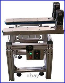 Hugger Belt Conveyor, Side Grip for Bottomless Transfer Conveyor & Bottom Coding