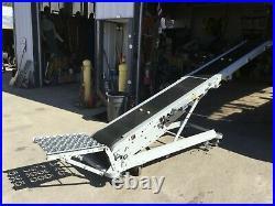 Hytrol Model B Portable Folding Cleated Incline/Decline Belt Conveyor 12 ft