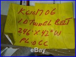 I D TUNNEL Conveyor belt 246' X 42 1D/4D TUNNEL BL CHIORINO Food Grade