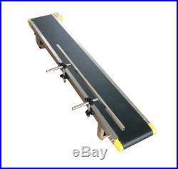 INTBUYING Single Guardrail Flat Conveyor Belt Systems for Desk Transport597.8